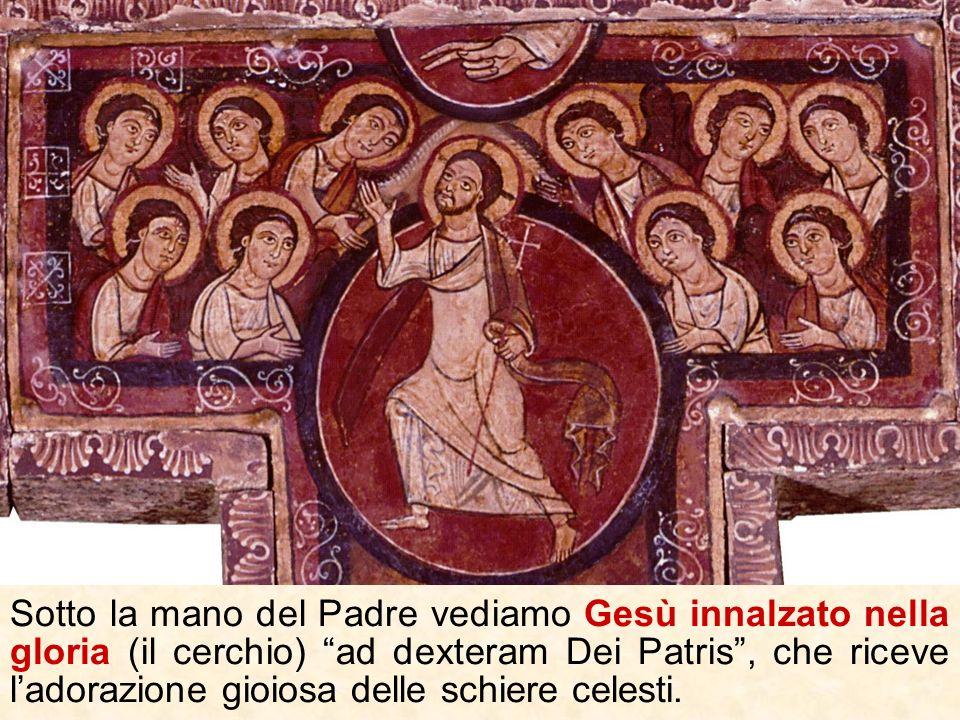 In basso (la scena è rovinata) era raffigurato Gesù che discende agli inferi per liberare dalla morte i progenitori, i patriarchi, lumanità.