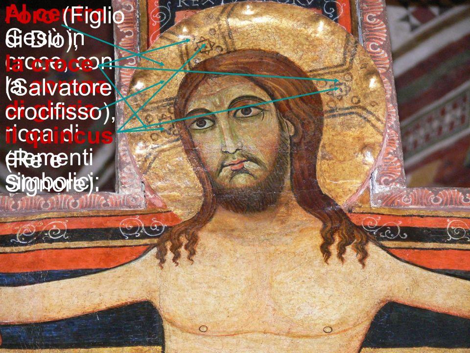 In alto nella lunetta si trova la mano del Padre: Colui dal quale Gesù è venuto e al quale ritorna, colui che lo ha innalzato e dona lo Spirito, perch