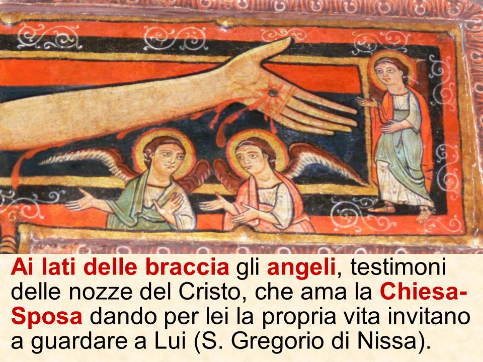 Sotto il costato aperto la Madre e il discepolo amato: ancora unimmagine della Chiesa, famiglia di Dio che nasce dal dono pasquale del Crocifisso.