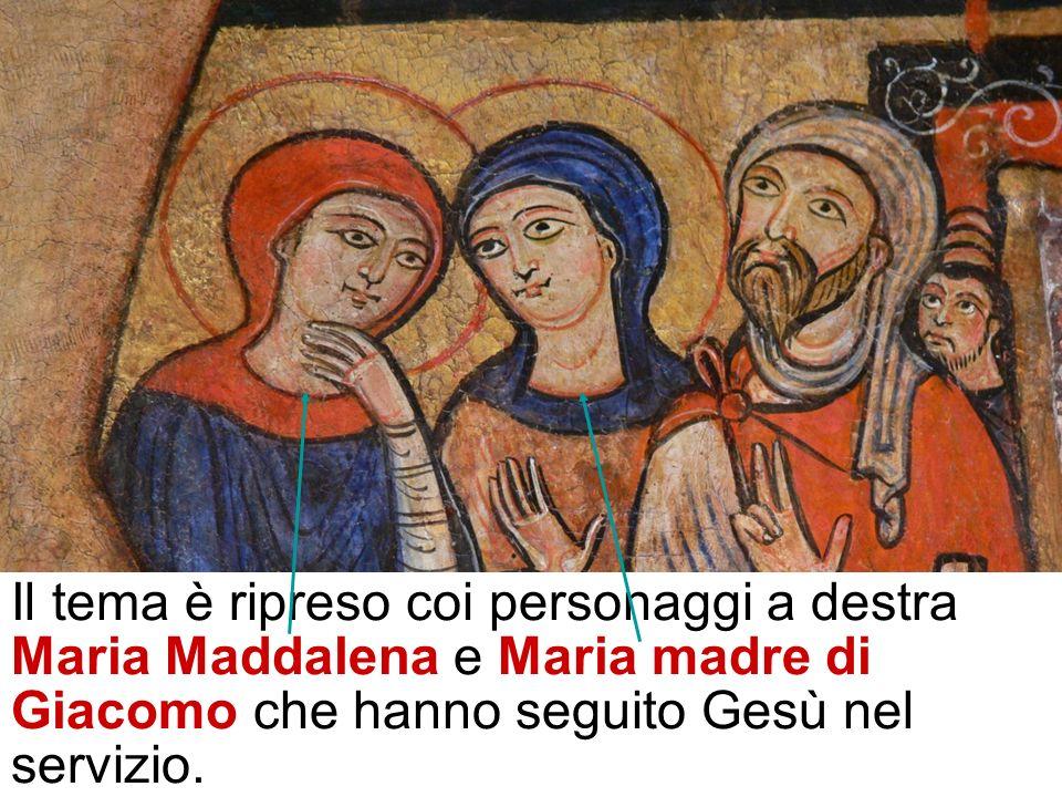Attorno ai fianchi di Gesù il linteum, il grembiule del servizio indossato durante la lavanda dei piedi, il segno del servizio estremo, quello di chi