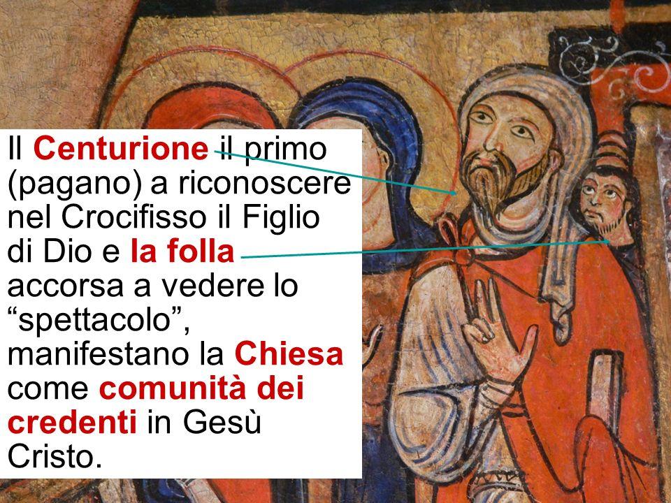 Il tema è ripreso coi personaggi a destra Maria Maddalena e Maria madre di Giacomo che hanno seguito Gesù nel servizio.