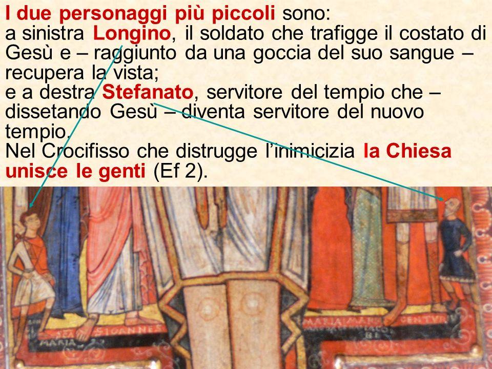 Il Centurione il primo (pagano) a riconoscere nel Crocifisso il Figlio di Dio e la folla accorsa a vedere lo spettacolo, manifestano la Chiesa come co