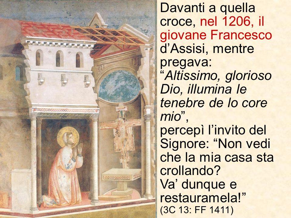 È unicona, dipinta da un anonimo artista (probabilmente un monaco che viveva nella zona di Assisi) tra il 1000 e il 1050 d.C., prendendo ispirazione d