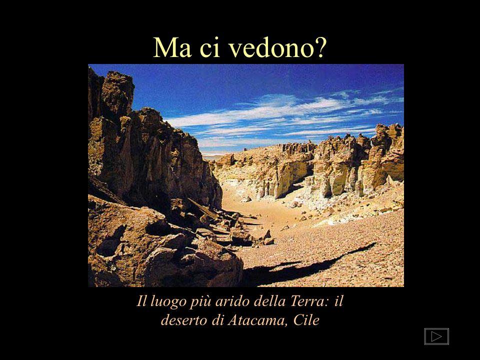 Ma ci vedono? Il luogo più arido della Terra: il deserto di Atacama, Cile