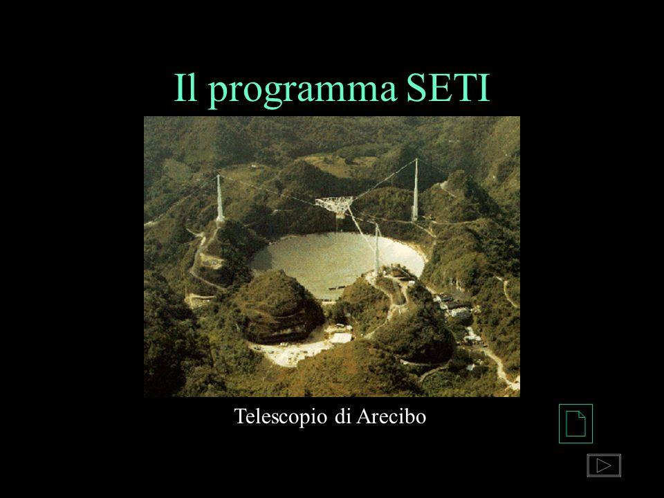 Il programma SETI Telescopio di Arecibo