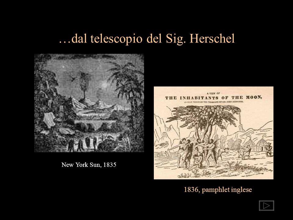 …dal telescopio del Sig. Herschel New York Sun, 1835 1836, pamphlet inglese