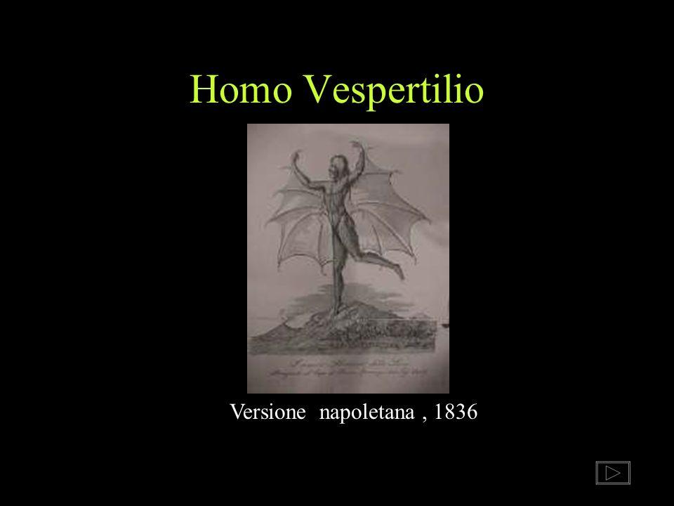 Homo Vespertilio Versione napoletana, 1836