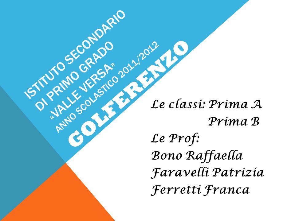 ISTITUTO SECONDARIO DI PRIMO GRADO «VALLE VERSA» ANNO SCOLASTICO 2011/2012 Le classi: Prima A Prima B Le Prof: Bono Raffaella Faravelli Patrizia Ferre