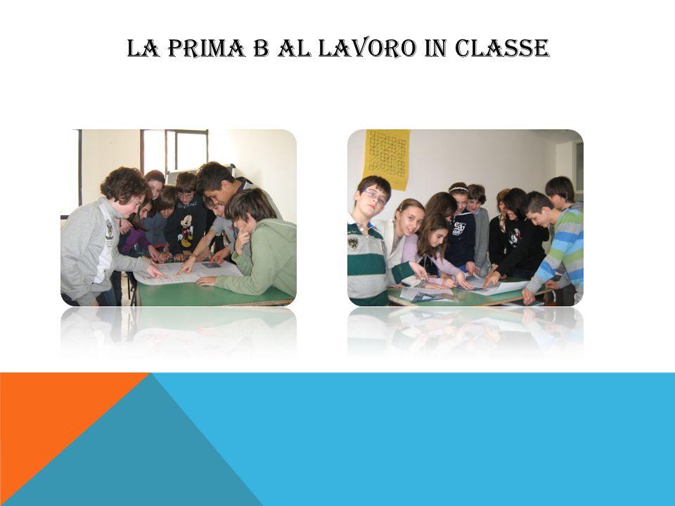 LA PRIMA B AL LAVORO IN CLASSE
