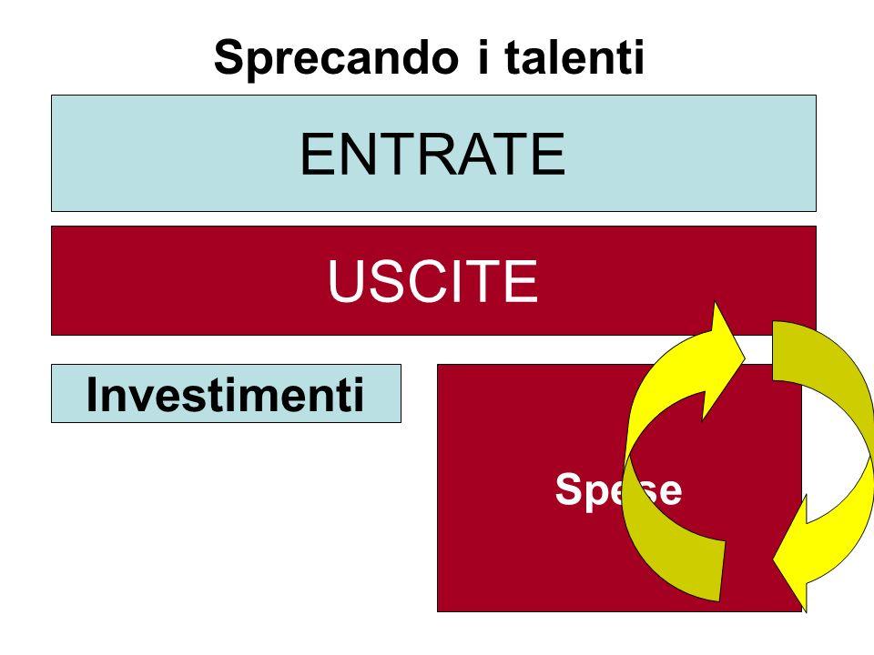 ENTRATE USCITE Investimenti Spese Sprecando i talenti