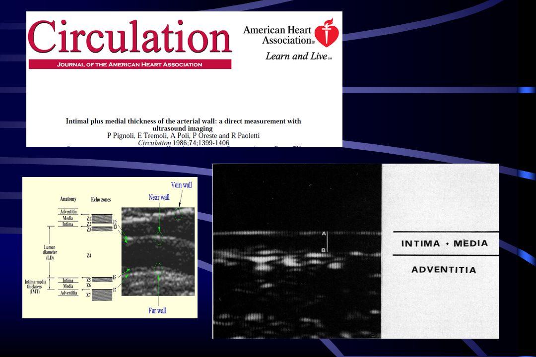 1- Modesto predittore di malattia coronarica 2- Migliore predittore di stroke 3- Minimo valore predittivo incrementale per Malattia coronarica rispetto ai FR 4- Minore valore predittivo per CAD rispetto alla placca carotidea