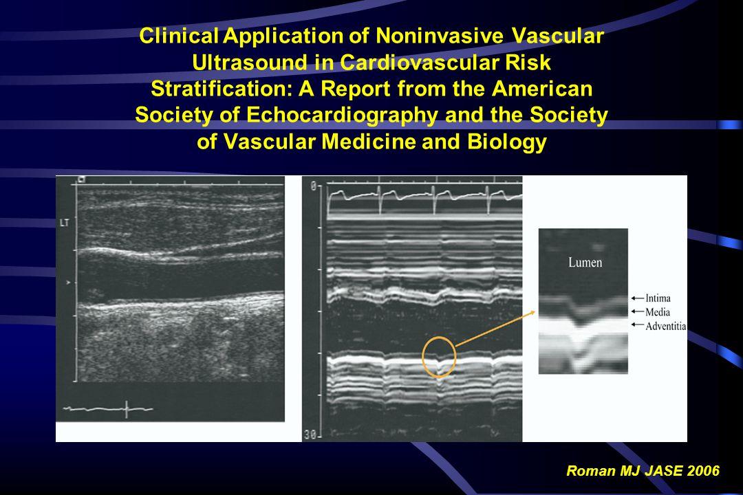 Ruolo dell IMT Carotideo nel Predire Eventi Cardiovascolari : CHS Study 4476 Soggetti (eta 72.5 ± 5.5 anni) Follow-up: mediana 6.2 anni Eventi cardiovascolari: - 267 IMA - 284 Strokes O Leary et al.