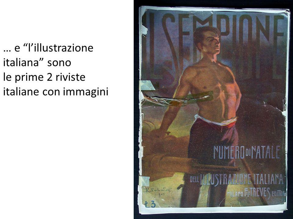 … e lillustrazione italiana sono le prime 2 riviste italiane con immagini