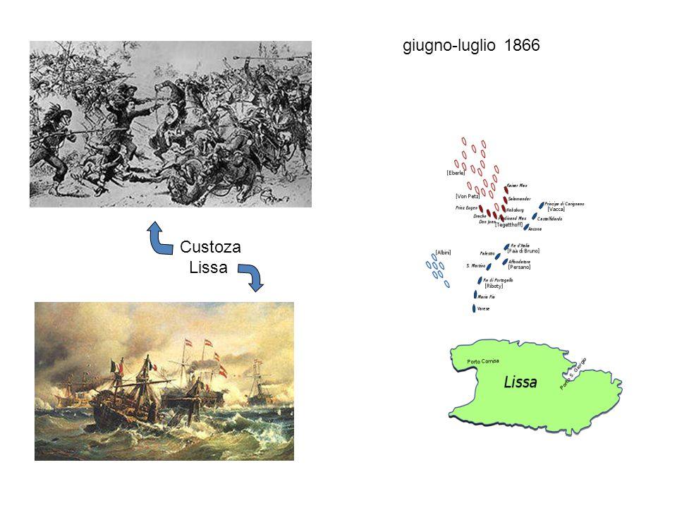 Custoza Lissa giugno-luglio 1866