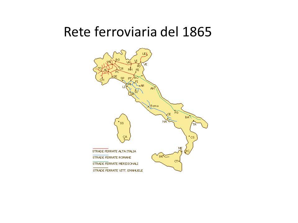 Rete ferroviaria del 1865
