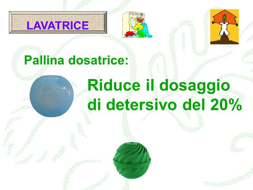 Pallina dosatrice: Riduce il dosaggio di detersivo del 20% LAVATRICE