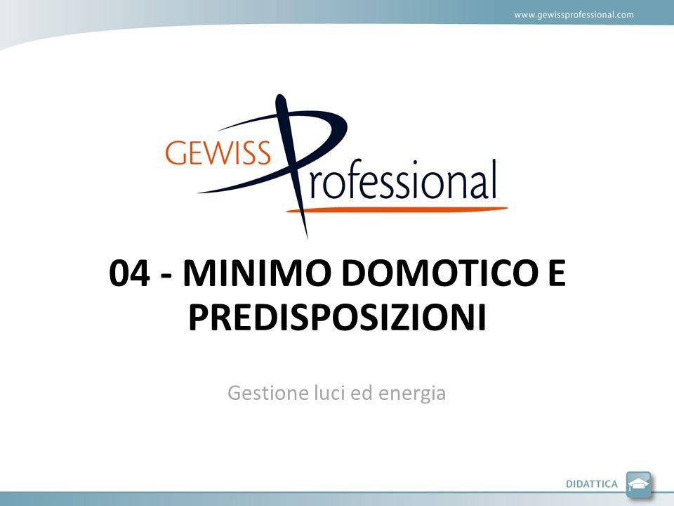 Gestione luci ed energia 04 - MINIMO DOMOTICO E PREDISPOSIZIONI