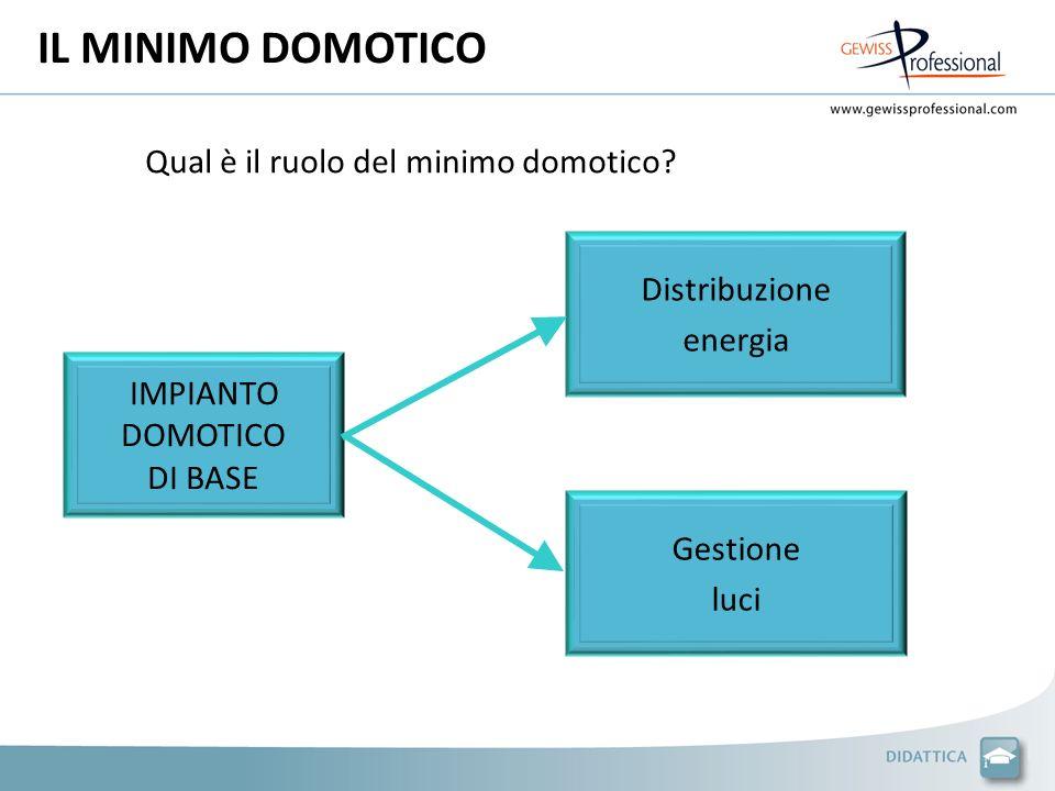 IL MINIMO DOMOTICO Qual è il ruolo del minimo domotico.