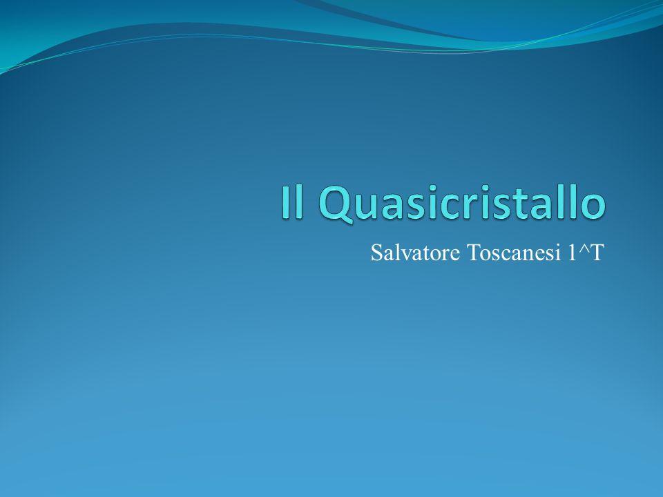 Introduzione Il primo quasicristallo viene scoperto nel 1980 da Shechtman.