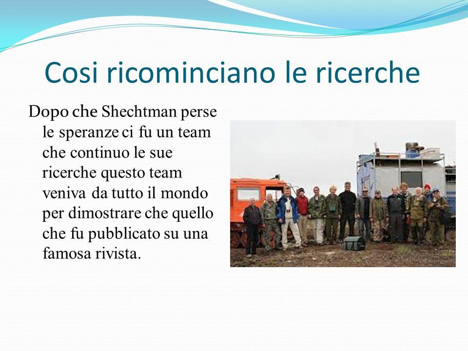 Cosi ricominciano le ricerche Dopo che Shechtman perse le speranze ci fu un team che continuo le sue ricerche questo team veniva da tutto il mondo per