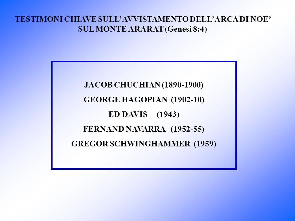 Jacob Chuchian è un armeno di Ortulu un piccolo villaggio alle pendici sud-ovest dellArarat e vide lArca più volte tra i 9 e i 19 anni.