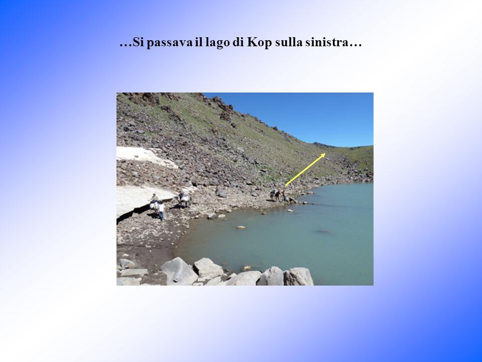 …si poteva vedere dove si trovava lArca (la zona) già dal bordo del cratere del lago di Kop… Lago di Kop Foto scattata dal bordo del cratere zona della cengia dellarca Parrot goulotte