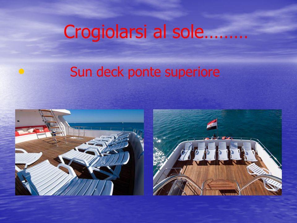Crogiolarsi al sole……… Sun deck ponte superiore