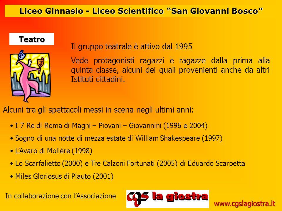 Liceo Ginnasio - Liceo Scientifico San Giovanni Bosco I 7 Re di Roma di Magni – Piovani – Giovannini (1996 e 2004) Sogno di una notte di mezza estate