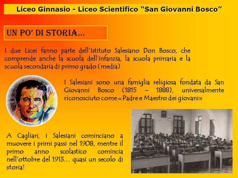 I due Licei fanno parte dellIstituto Salesiano Don Bosco, che comprende anche la scuola dellinfanzia, la scuola primaria e la scuola secondaria di pri