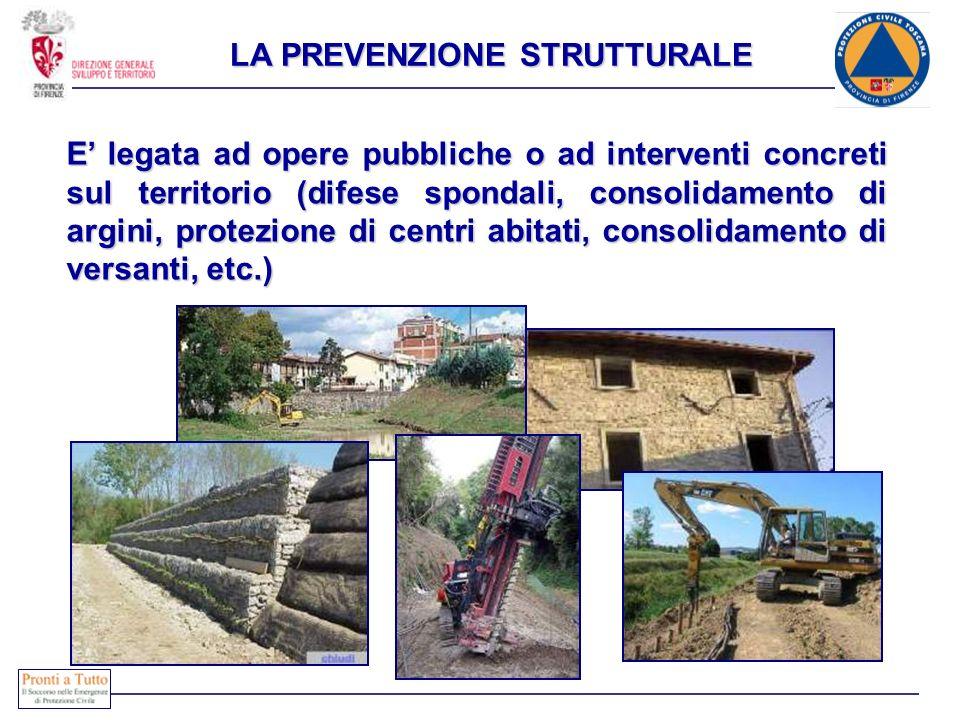 E legata ad opere pubbliche o ad interventi concreti sul territorio (difese spondali, consolidamento di argini, protezione di centri abitati, consolid