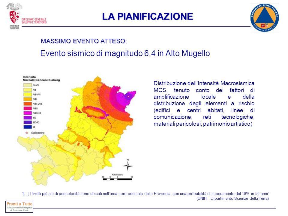 Distribuzione dellIntensità Macrosismica MCS, tenuto conto dei fattori di amplificazione locale e della distribuzione degli elementi a rischio (edific