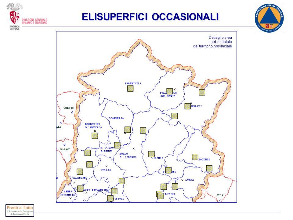 Dettaglio area nord-orientale del territorio provinciale ELISUPERFICI OCCASIONALI