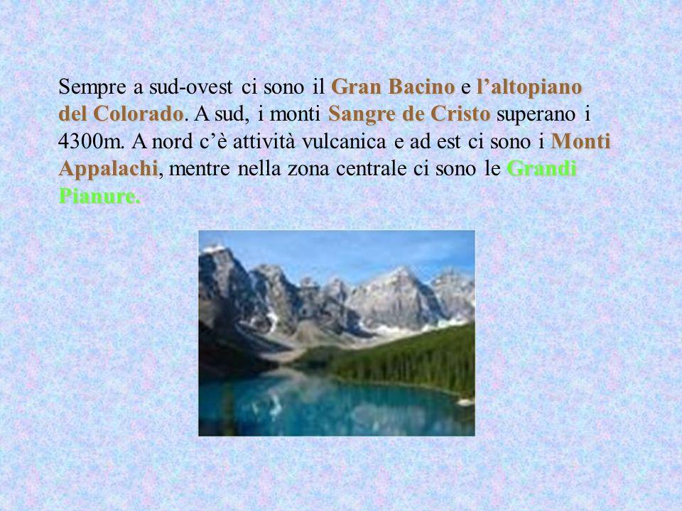Gran Bacinolaltopiano del ColoradoSangre de Cristo Monti AppalachiGrandi Pianure.