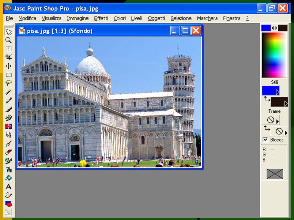 Uni 3 - Università delle Tre età - Nichelino - Informatica Avanzata 12 Ci sono due tipi di immagini: Immagini Bitmap e Immagini Vettoriali Le immagini bitmap sono formate da tanti punti quanti ne servono per disegnare l intera immagine ( i Pixel ).