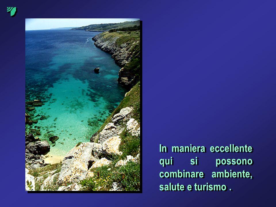 In maniera eccellente qui si possono combinare ambiente, salute e turismo.