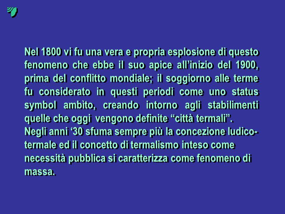 Nel 1800 vi fu una vera e propria esplosione di questo fenomeno che ebbe il suo apice allinizio del 1900, prima del conflitto mondiale; il soggiorno a