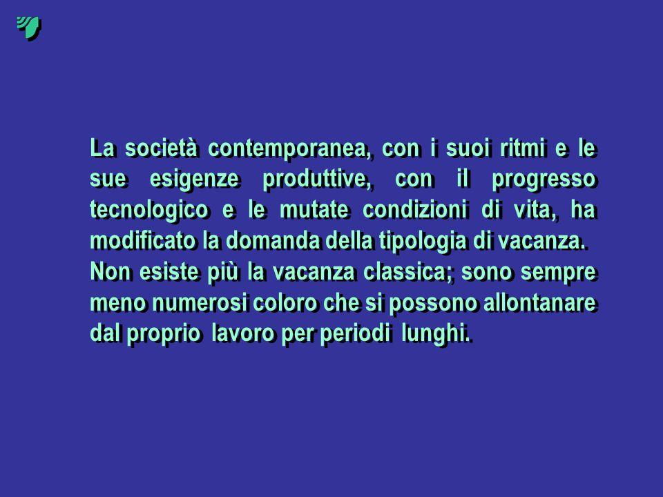 La società contemporanea, con i suoi ritmi e le sue esigenze produttive, con il progresso tecnologico e le mutate condizioni di vita, ha modificato la