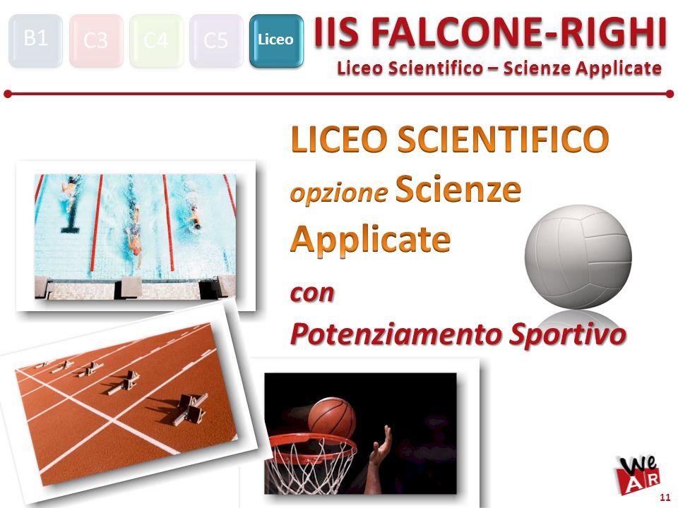 Liceo Scientifico – Scienze Applicate C3C4C5 Liceo IIS FALCONE-RIGHI S1 B1 11