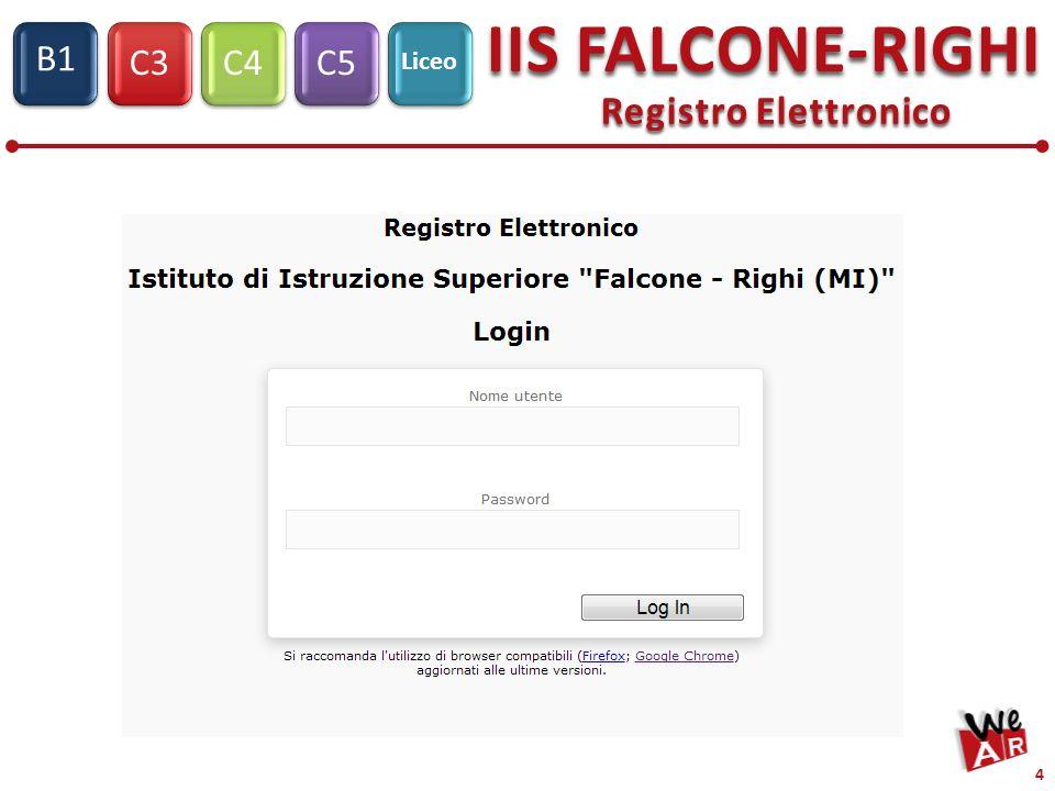C3C4C5 IIS FALCONE-RIGHI S1 B1 Liceo 4 Registro Elettronico