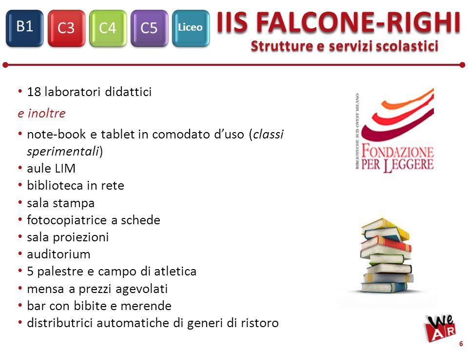 Liceo Scientifico – Scienze Applicate C3C4C5 Liceo IIS FALCONE-RIGHI S1 B1 7