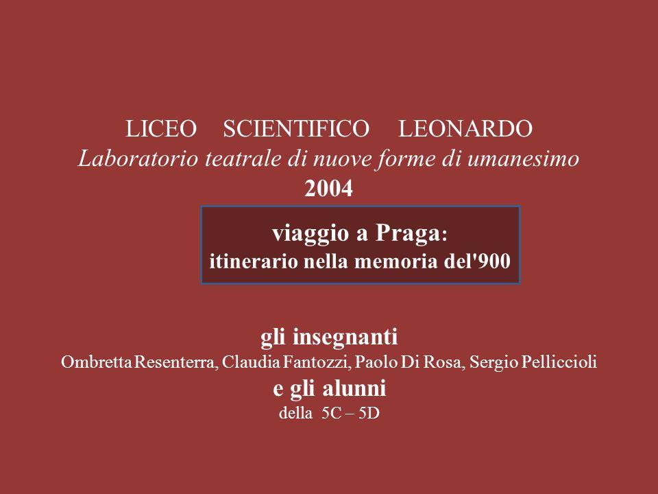 LICEO SCIENTIFICO LEONARDO Laboratorio teatrale di nuove forme di umanesimo 2004 gli insegnanti Ombretta Resenterra, Claudia Fantozzi, Paolo Di Rosa,