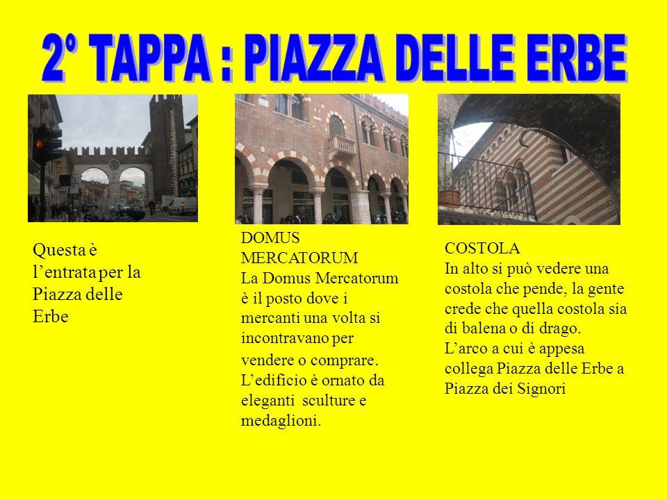 Questa è lentrata per la Piazza delle Erbe DOMUS MERCATORUM La Domus Mercatorum è il posto dove i mercanti una volta si incontravano per vendere o com
