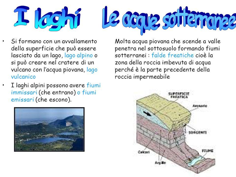 Si formano con un avvallamento della superficie che può essere lasciato da un lago, lago alpino o si può creare nel cratere di un vulcano con lacqua p