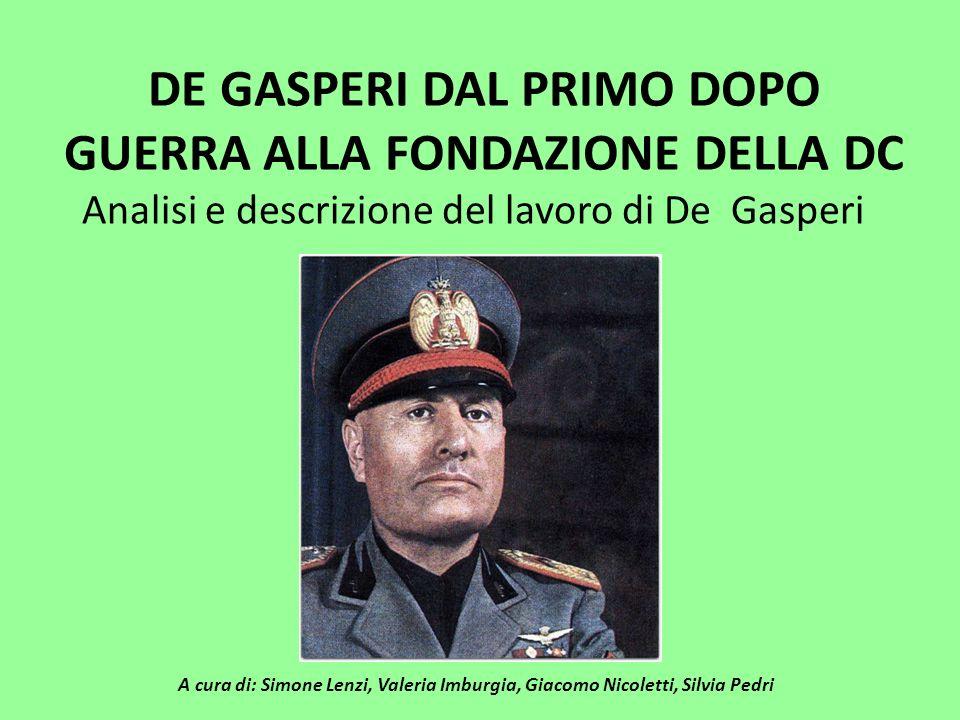 Il Governo De Gasperi fu l ultimo governo del periodo costituzionale transitorio che si concluse con il referendum popolare del 2 giugno 1946, quando il popolo italiano si espresse a favore della Repubblica.