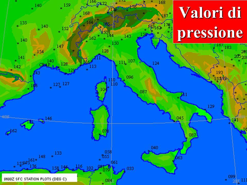 Come si legge una carta d'analisi 30 Spesso vengono omesse le prime due cifre della pressione atmosferica 111 111 = 1011,1 1011,1 hPa Dati di pression