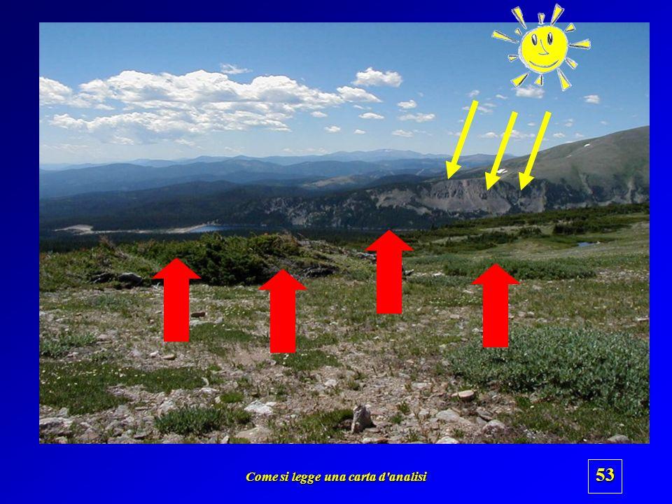 Come si legge una carta d'analisi 52 Laria viene riscaldata maggiormente dal Sole o dalla sottostante superficie terrestre ? Sole ? o superficie terre