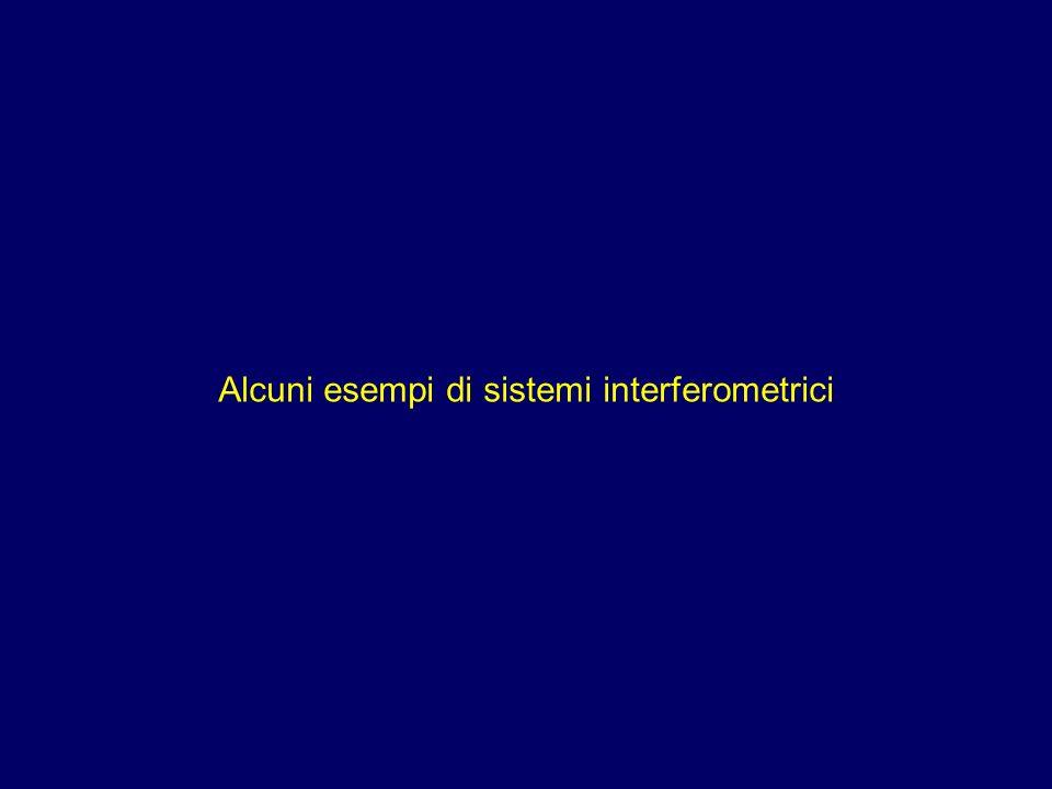 Alcuni esempi di sistemi interferometrici