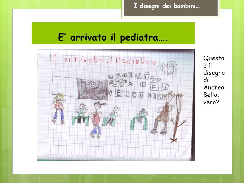 E arrivato il pediatra…. I disegni dei bambini… Questo è il disegno di Andrea. Bello, vero?