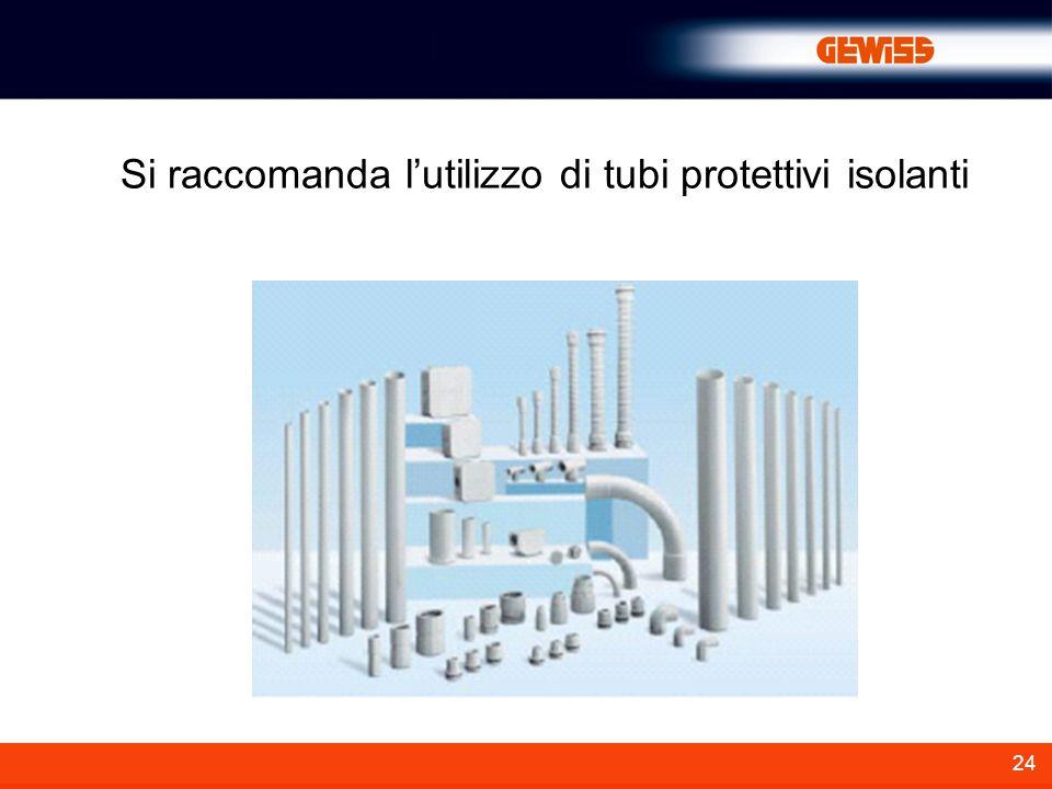 24 Si raccomanda lutilizzo di tubi protettivi isolanti