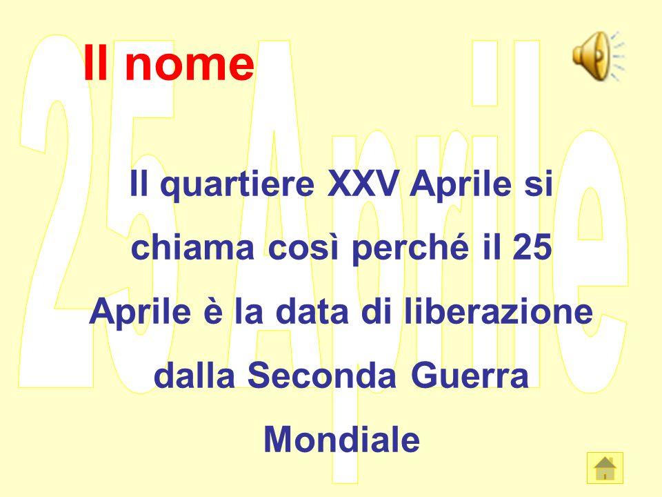 I nostri grafici: dove abitiamo? Sezione B: 7 bambini abitano nel quartiere XXV Aprile
